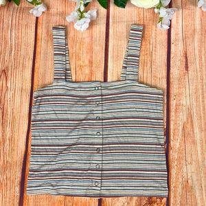 AEO Soft & Sexy Rib Stripes Summer Crop Top Ac44
